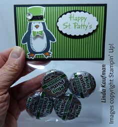 Linda K's Stampin' Page: Stampin' Up!'s St. Patty's Day Treat made with Snow Place