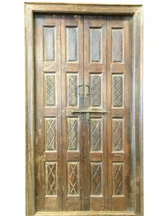 A wide selection of old world palace doors, architectural imports from India at Mogulinterior. antique doors, rustic doors, barn doors and artisan carved doors in teak wood. Wooden Double Doors, Spanish Style Interiors, Indian Doors, Yoga Decor, Carved Doors, Indian Furniture, Rustic Furniture, Hand Carved Teak, Wood Doors Interior