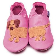 Dash Rose Pink Inch Blue Shoes - Soft Handmade Leather Baby Shoes