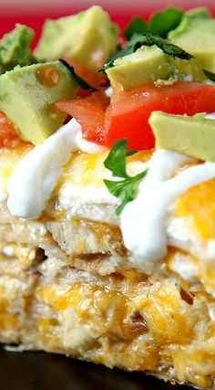 Easy Chicken Tortilla Casserole: Mile high tortilla stack filled with seasoned chicken and tons of melty cheese. Mix up Mexican night in your house this week! Mexican Dishes, Mexican Food Recipes, Mexican Meals, Spanish Recipes, Mexican Cooking, Chicken Tortilla Casserole, Casserole Recipes, Tacos And Burritos, Good Food
