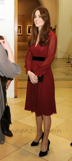 "Kate Middleton - famosas seguidoras del ""burgundy"""