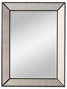 VENETIAN BEADED MIRROR - AGED STEEL - See more at: https://www.decorist.com/finds/63882/venetian-beaded-mirror-aged-steel/
