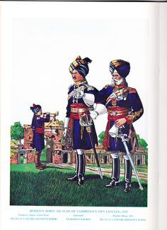 Indian Army; 10th Duke of Cambridge's Own Cavalry, Trumpeter. 9th Hodsons Horse, Lieutenant & 10th Duke of Cambridge's Own Cavalry, Rissaldar-Major. From Tradition Magazine Special Edition on Indian Cavalry Regiments