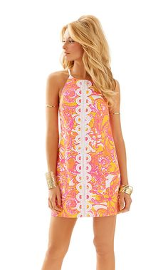 Lilly Pulitzer Annabelle Shift Dress in Sea and Be Seen