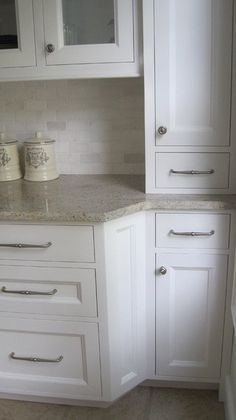 Traditional Kitchen : Kasmir White Granite, Marble Tumbled Stone, Tumbled Marble Kitchen Backsplash, Youngstown Custom Contractors