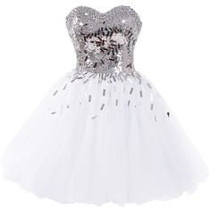 Dressystar Short A-Line Sweetheart Sparkling Beaded Prom Homecoming... ($90) ❤ liked on Polyvore featuring dresses, cocktail prom dress, beaded prom dresses, homecoming dresses, a line prom dresses and beaded dress