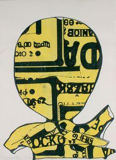 Janoušková Věra | Hlava I., 1992 | Aukce obrazů, starožitností | Aukční dům Sýpka Collages, Art Moderne, Collage