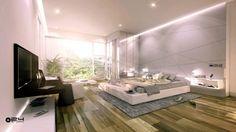 chambre à coucher vaste ultra moderne