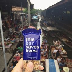 Wishing we could sell our bars at this floating market in Thailand #ThisBarTravels