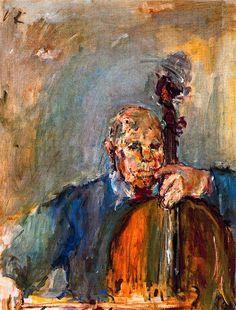 Pablo Casals,1954 by Oskar Kokoschka