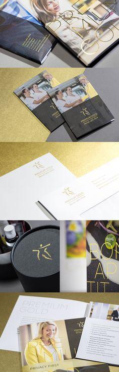 Premium Gold – eine neue Marke für die Zukunft  #klinik #grafik #marke #veredelung #merianiselin #spitaldesign #premiumgold #designersfactory Merian, Corporate Design, Portfolio Design, Gold, Future, Portfolio Design Layouts, Brand Design, Branding Design, Yellow