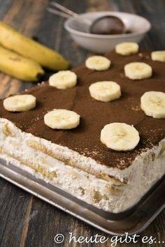 """Bananen-Tiramisù - eine kaffeefreie Variante des italienischen Dessertklassikers. Ideal für Kinder, Schwangere und alle Fans der Kombi """"Schoko-Banane"""""""