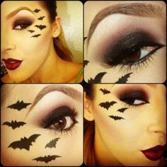 Bat Costume Makeup – Mugeek Vidalondon – ABC Karneval im schnee Bat Makeup, Halloween Eye Makeup, Witch Makeup, Kids Makeup, Halloween Face Mask, Makeup Ideas, Skull Makeup, Bat Halloween Costume, Bat Costume