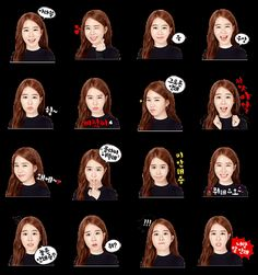 Yoo In-na Line Sticker