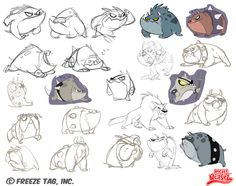 Rocket Weasel - dog iterations by ~doingwell on deviantART