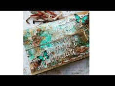 Virág Réti - Mixed Media Scrapbook Paper Bag Album Page Tutorial - -. Paper Bag Album, Mixed Media Scrapbooking, Bagan, Art Journals, Mixed Media Art, Scrapbooks, Altered Art, Scrapbook Paper, Albums