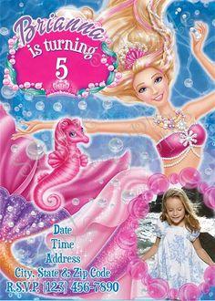 Barbie Party Invitation, Barbie Party, Barbie birthday, Barbie Birthday party, Barbie invitations