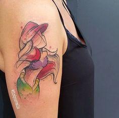 Tatuagens nerds com efeito aquarela e traços finos | Nerd Da Hora
