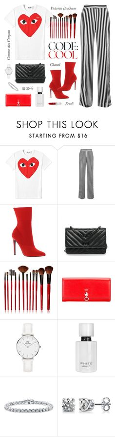 """Playtime"" by angeli-cn ❤ liked on Polyvore featuring Play Comme des Garçons, Victoria, Victoria Beckham, Steve Madden, Chanel, Shany, Fendi, Daniel Wellington, Kenneth Cole and BERRICLE"