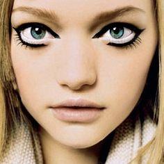 Black & White makeup to make eyes look bigger.