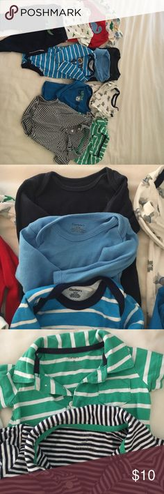 carter's and gerber baby boy clothes size 3-6 m Lot of carter's and gerber baby boy clothes sz 3 and 6 months. Carter's One Pieces Bodysuits