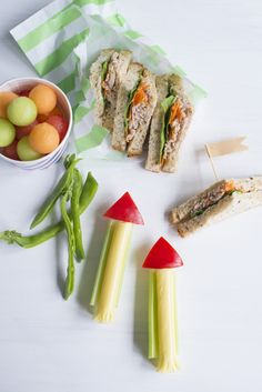 {NEW}Send healthy snacks blasting off to school in your kids' lunchboxes this year with these cool, little rocket snackers. FREE RECIPE eBOOK 15 complete lunchbox suggestions: bit.ly/2iXDDd3