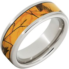Love orange camo and want to wear it proud on your finger? The Blaze Orange Camo Ring is perfect for you! It's an wide Serinium, pipe cut, and can either have Mossy Oak Blaze or Realtree AP Blaze camo for the inlay. Wedding Rings Sets His And Hers, Camo Wedding Rings, Camo Rings, Camouflage Wedding, Camo Patterns, Mossy Oak, Metal Jewelry, Bands, Outdoors