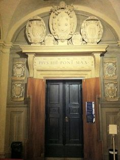 """At the University of Bologna (the oldest in Europe): the """"Stabat Mater Room"""" where Donizetti conducted Rossini's Stabat Mater in 1842."""