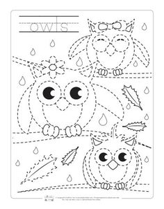 Fall Tracing Worksheets for Kids. Fall Preschool, Preschool Curriculum, Preschool Printables, Preschool Worksheets, Kindergarten Activities, Phonics Activities, Tracing Art, Tracing Worksheets, Animal Worksheets