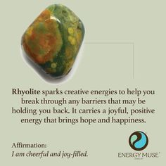 Rhyolite Stone, View the best rhyolite stones from Energy Muse. Discover the rhyolite properties and uses today. Crystals Minerals, Crystals And Gemstones, Stones And Crystals, Gem Stones, Chakra Crystals, Crystal Healing Stones, Crystal Magic, Reiki, Crystal Meanings