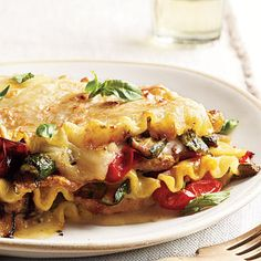 Vegetable Lasagna Recipe by Cooking Light | Maypurr