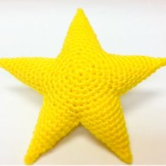 Big Yellow Crocheted Star Plush Kids Toys / by RoyalCrownHandmade