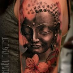 Leading Tattoo Magazine & Database, Featuring best tattoo Designs & Ideas from around the world. At TattooViral we connects the worlds best tattoo artists and fans to find the Best Tattoo Designs, Quotes, Inspirations and Ideas for women, men and couples. Buddha Tattoos, Buddhism Tattoo, Buddha Tattoo Design, Hindu Tattoos, Black White Tattoos, Black Ink Tattoos, Arm Tattoos, Sleeve Tattoos, Tatoos