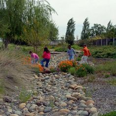 """20 ways to create play environments for the soul""  (Image: dry creek bed)"