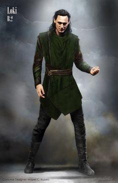 "marvelstudiosmovies: ""'Thor: Ragnarok' Loki costume design """