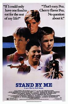 "A DAY in MOVIE HISTORY - Aug ""Stand By Me"" film based on the novella by Stephen King, directed by Rob Reiner starring Wil Wheaton, River Phoenix, Corey Feldman, and Jerry O'Connell was released 80s Movies, Great Movies, Movies To Watch, 80s Movie Posters, Awesome Movies, Comedy Movies, Cult Movies, Corey Feldman, River Phoenix"