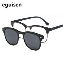 bebf4f487c9e6 52-20-140 TR magnet frame retro eyeglasses frame Myopia clip sunglasses  polarizing lens set for male and female 2218 myopic eyes   Price   US   15.30   FREE ...