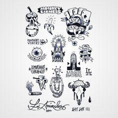 Monkey Bizness - Tattoos éphéméres inspiré de la Bn éponyme, l'univers de Los Animales http://www.bernardforever.fr/products/monkey-bizness