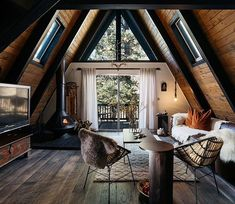 This wonderful incredibly cozy cottage was created for romantics or for a friendly family who adores nature. Just imagine: the house is located deep in ✌Pufikhomes - source of home inspiration Rustic Home Interiors, Rustic Home Design, Cabin Design, Modern Cabin Interior, Modern Cabin Decor, Cabin Interior Design, Small Cabin Interiors, Wood House Design, Brick Interior