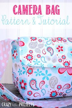 Camera Bag - Free Sewing Pattern and Tutorial by Amber Price of Crazy Little Projects #sewing #photography