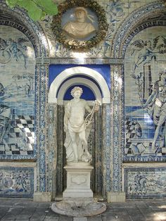 Finding Blue and White Beauty in Portugal Places In Portugal, Spain And Portugal, Portugal Travel, Portuguese Culture, Portuguese Tiles, Beautiful Architecture, Classical Architecture, Landscape Architecture, Tile Art