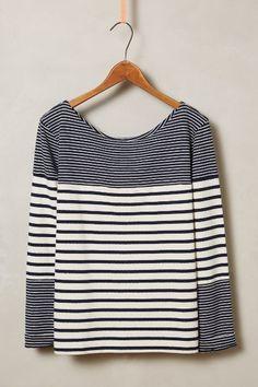 stripe Merge Pullover