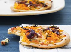 Pumpkin, Feta and Red Onion Pizza Recipe!  For all of your pizza cravings visit Stosh's Pizza in Center Line, MI!  Give us a call at (586) 757-6836 to place your order or visit our website www.stoshspizza.com for more information!