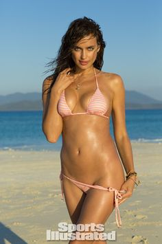 Irina Shayk was photographed by Derek Kettela in Madagascar. Swimsuit by Eberjey.
