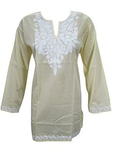 Women's Boho Indi Blouse Yellow Tops Floral Embroidered C... http://www.amazon.com/dp/B012ZS620G/ref=cm_sw_r_pi_dp_ri6nxb1ACWTVQ
