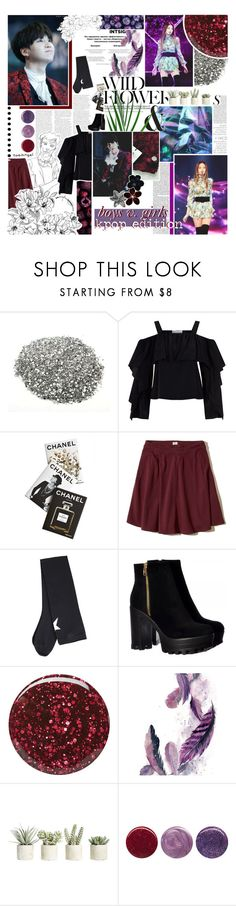 """""""boys v. girls // kpop edition"""" by taeangel ❤ liked on Polyvore featuring Vanity Fair, Chanel, Robert Rodriguez, Assouline Publishing, Hollister Co., Givenchy, Burberry, Allstate Floral, Deborah Lippmann and kpop"""