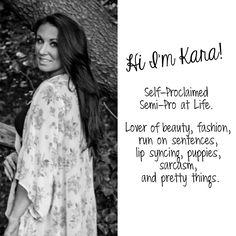 Hi I'm Kara - Owner of the life + style blog Fit Chick Nextdoor. #fcnextdoor #aboutme #karalarkin