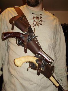 pirate gun double holster - Google Search