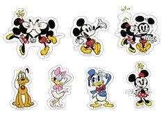 Toppers do Mickey e sua turma para imprimir - Dicas pra Mamãe