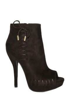 Heart Soul Jamilah Lace-Up High Heel Bootie by Non Specific on @HauteLook